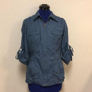 CAbi Blue Utility Jacket Style 393 Sz Small